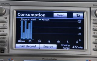 2009 Toyota Camry Hybrid power consumption display