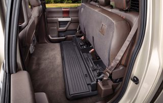 2017 Ford F350 King Ranch second row fold up bench seats