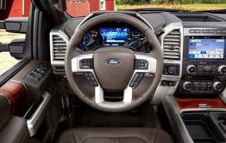 2017 Ford F350 King Ranch cockpit instruments