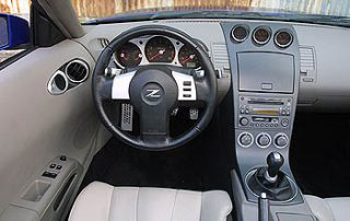 The 2004 Nissan 350Z Roadster cockpit