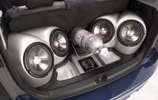 2004 Scion with an aftermarket sound system