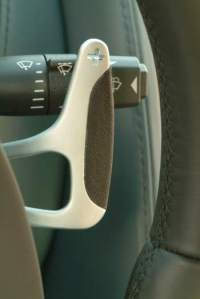The paddles modulate the braking and acceleration