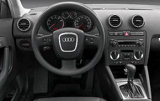 The interior of the A3 3.2 is simple and unfussy