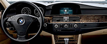 From the driver's seat in a BMW 530xi