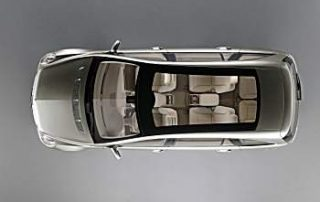 A panoramic roof ; all 6 adults can star-watch