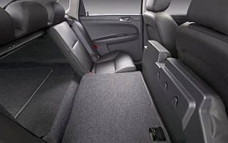 Flip-and-fold rear seats in the Chevrolet