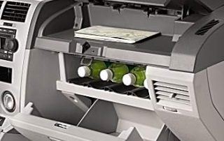 An optional cooler in the glove compartment