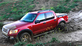 2007 Ford Explorer Sport Trac in the mud