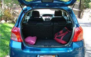 2007 Toyota Yaris trunk space