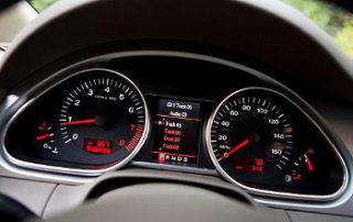 The Q7 allows you to view your current music from the instrument panel.