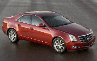 2008 Cadillac CTS from the front