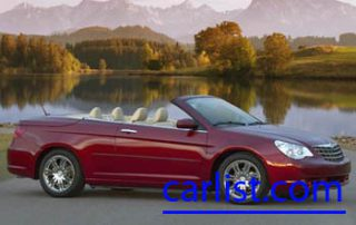 2008 Chrysler Sebring Limited Convertible front view