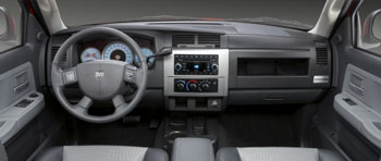 easy to read instrument panel