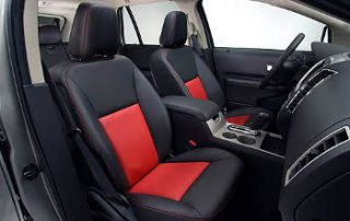 2008 Ford Edge with a sports car like interior