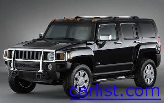 2008 Hummer H3X with a glossy black paint job