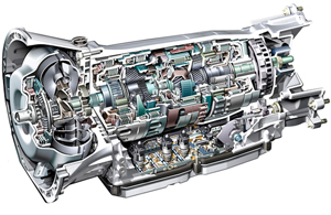 a cutaway of the seven speed