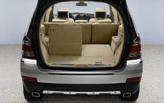 The 3rd row folds down to offer additional cargo space.