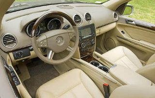 The leather trim covers most of the interior.