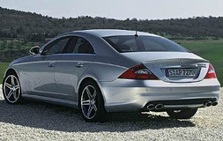 2008 Mercedes-Benz CL550 from the side