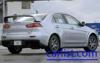 2008 Mitsubishi Lancer Evolution X from the rear