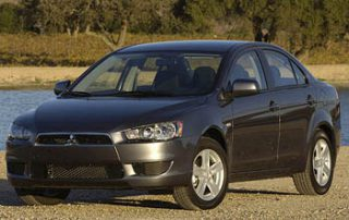 2008 Mitsubishi Lancer DE from the front