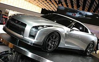 showing off the Nissan Skyline GT-R Proto
