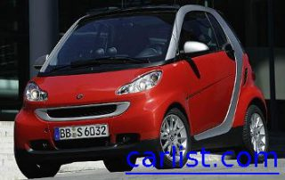 2007 smart fortwo with a slick red coat