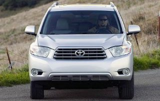 2008 Toyota Highlander Sport from the front