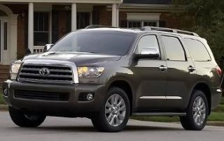 The 2008 Toyota Sequoia Platinum.