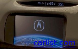 2009 Acura RL built in GPS unit