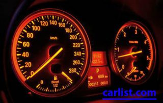 2009 BMW 328i gauges lit up
