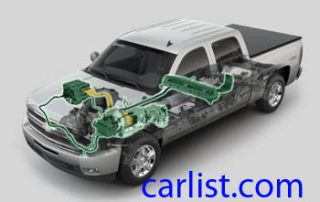 2009 Chevrolet Silverado Hybrid skeleton view of a 2 mode hybrid