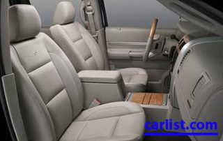 2009 Chrysler Aspen Hybrid SUV interior shot