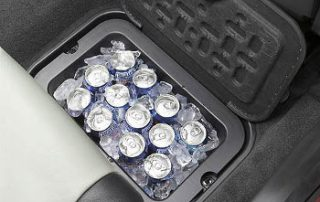 how many cars come with a built in drink cooler?