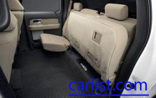 2009 Ford F-150 rear interior with fold down seats
