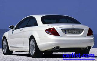 2009 Mercedes-Benz CL550 rear shot