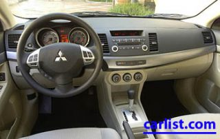 2009 Mitsubishi Lancer R interior shot