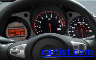 2009 Nissan 370Z Coupe gauge display