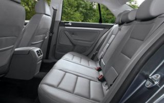 clean and roomy back seats