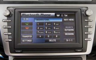 2010 Mazda 6 Bluetooth selection on center display