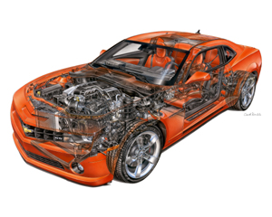 2010 Chevrolet Camaro SS David Kimble Illustration