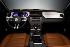 inside the 2010 Ford Mustang convertible