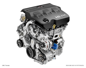 2010 GM 3.0L V-6 VVT DI (LF1) for GMC Terrain.