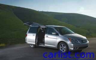 2010 Honda Odyssey in the hills