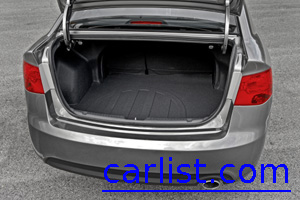2010 Kia Forte has a large trunk