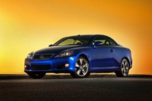 Sunrise in the 2010 Lexus IS350 Convertible