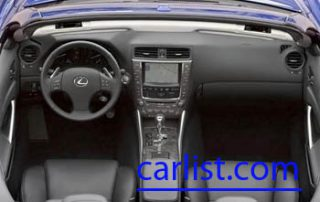 2010 Lexus IS 350 C front seats