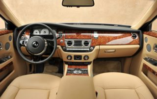 the infinity dashboard with real wood sidearms