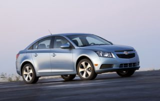 The Cruze replaces the Cobalt and it looks slightly bigger
