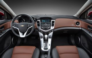 The Cruze sports a cleanly styled interior
